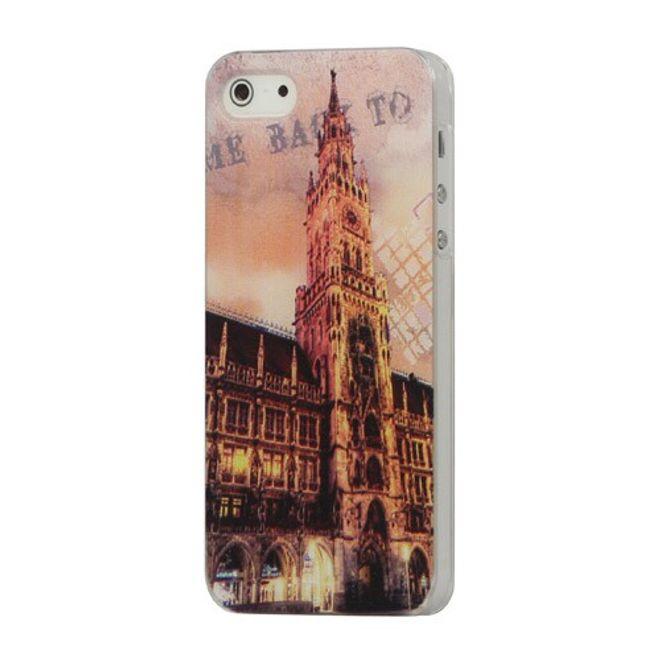 hans iPhone SE/5S/5 Münchner Rathaus Hart Plastik Case