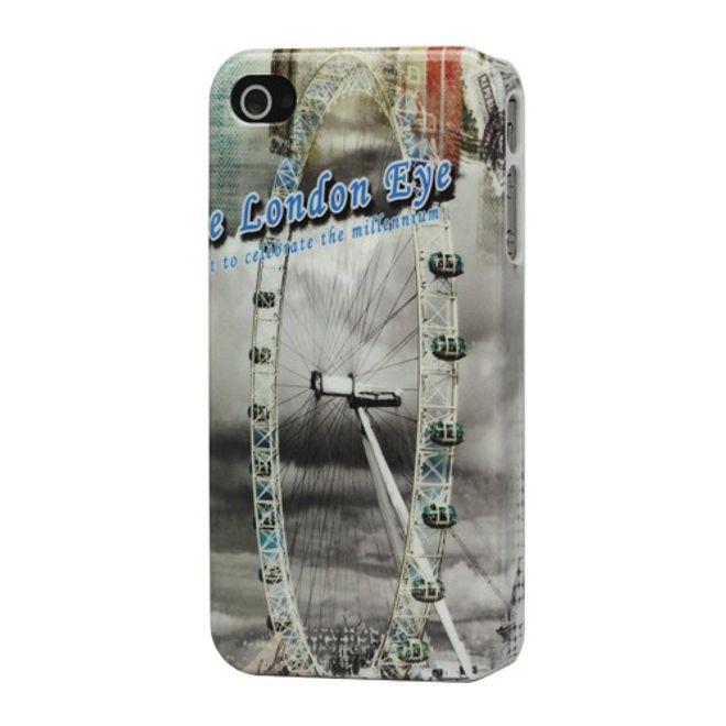 iPhone 4/4S Retro London Riesenrad Hart Plastik Case