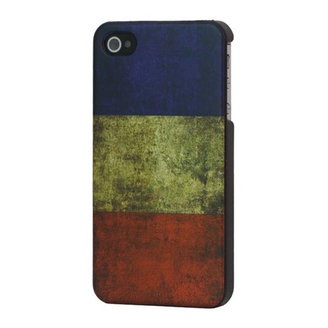 iPhone 4/4S Retro Frankreich Flagge Hart Plastik Case