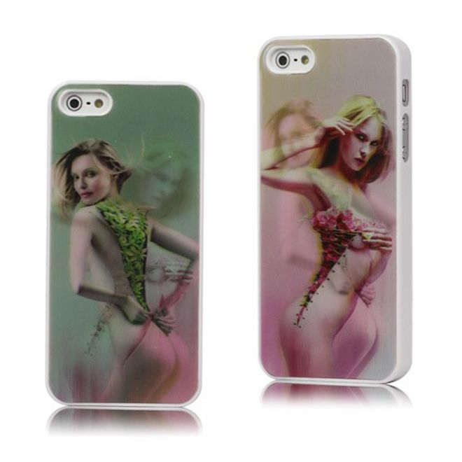 MU Style iPhone SE/5S/5 Sexy Girl 3D Effekt Hart Plastik Case