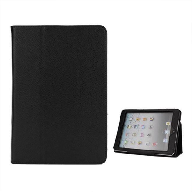 MU Classic iPad Mini 1/2/3 Litschi Style Leder Case mit Halterungsfunktion - schwarz
