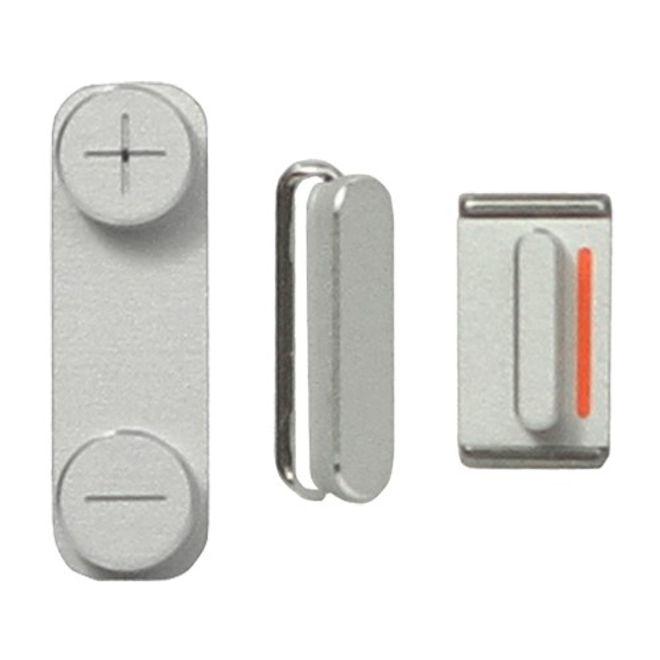 Seitenbuttons für das iPhone SE/5S/5 - silber
