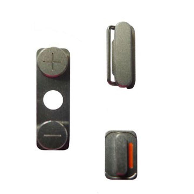 hans Seitenbuttons für das iPhone 4 - silber