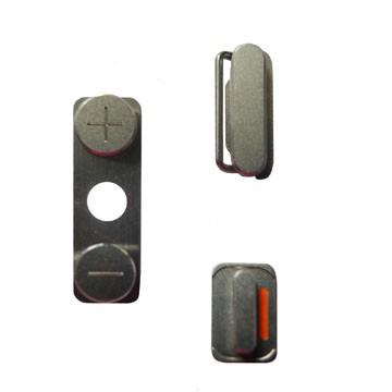 Seitenbuttons für das iPhone 4 - silber