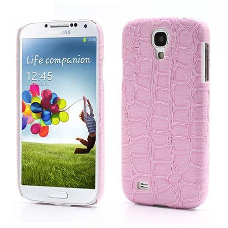 Samsung Galaxy S4 Krokodilhaut Hart Plastik Case - pink