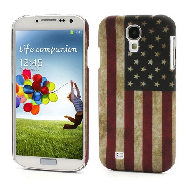 MU Style Samsung Galaxy S4 Amerika Nationalflagge retro Hart Plastik Case