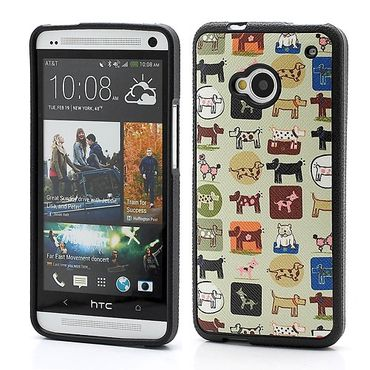 HTC One Verschiedene Cartoon Tierköpfe Hart Plastik Case