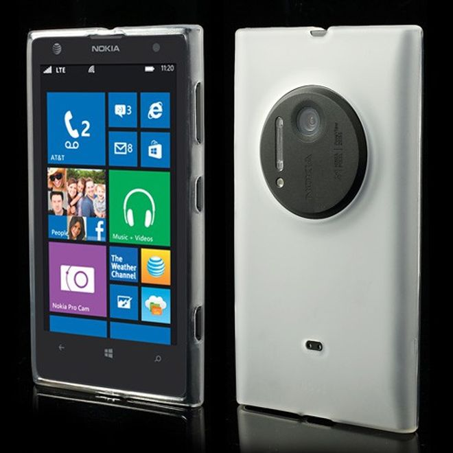 Nokia Lumia 1020 Elastisches Case - weiss