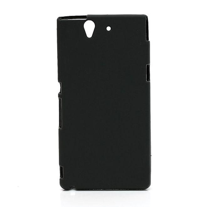 Sony Xperia Z Flexibles Plastik Case - schwarz