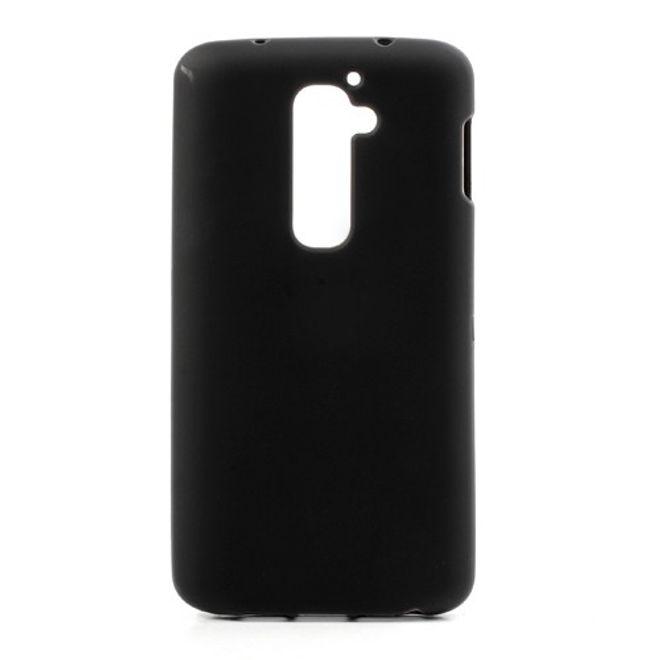hans LG Optimus G2 Elastisches, mattes Plastik Case - schwarz