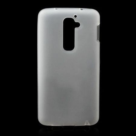 LG Optimus G2 Elastisches, mattes Plastik Case - transparent/weiss