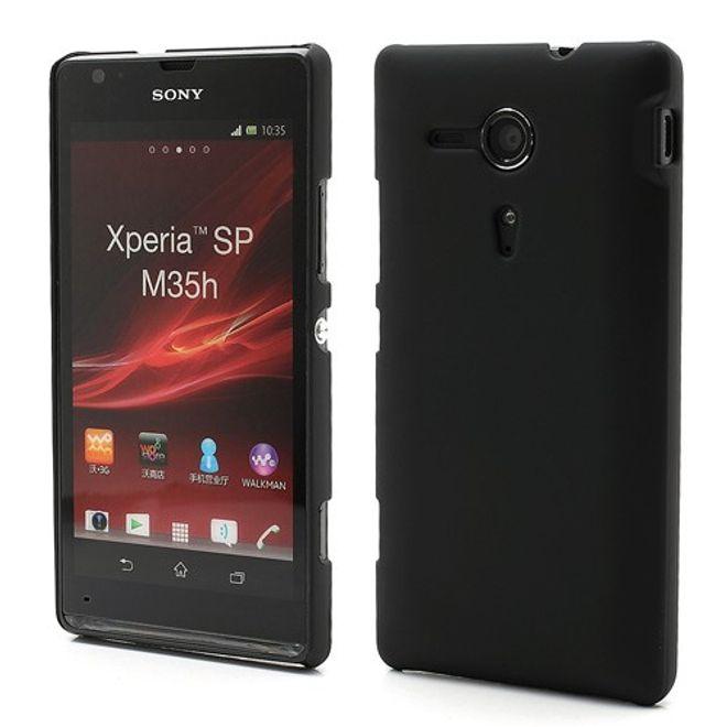 hans Sony Xperia SP Gummiertes Plastik Case - schwarz