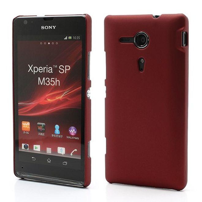 hans Sony Xperia SP Gummiertes Plastik Case - rot