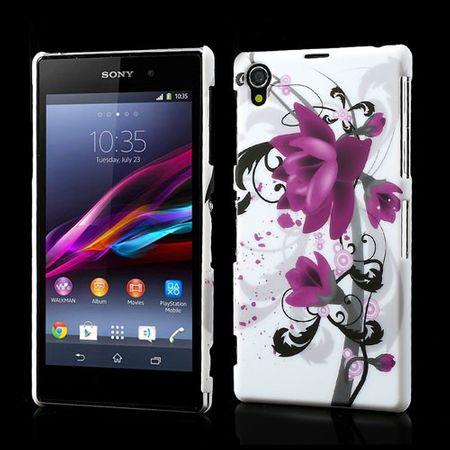 Sony Xperia Z1 Plastik Case mit Lotus Blume