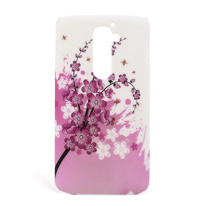 LG Optimus G2 Plastik Case mit pinker Blume