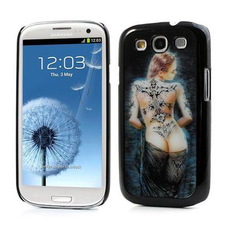 Samsung Galaxy S3 3D Effekt Sexy Lady Hart Plastik Case