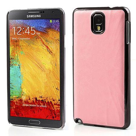 Samsung Galaxy Note 3 Crazy Horse lederüberzogenes Plastik Case - pink