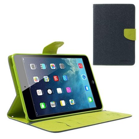 Goospery - iPad Mini 1/2/3 Hülle - Tablet Bookcover - Fancy Diary Series - navy/lime