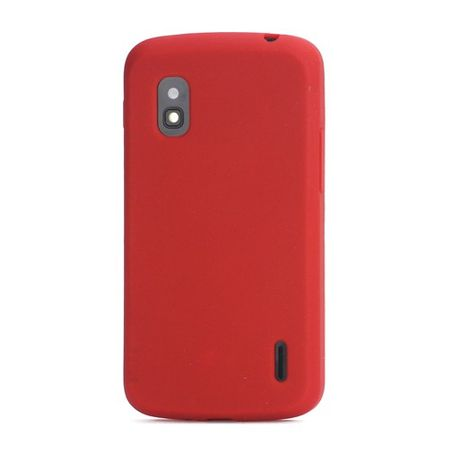 LG Google Nexus 4 Flexibles Silikon Case - rot