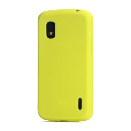 LG Google Nexus 4 Flexibles Silikon Case - gelb
