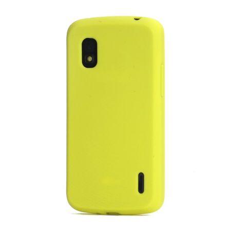 LG Google Nexus 4 Flexibles Silikon Case - gelb
