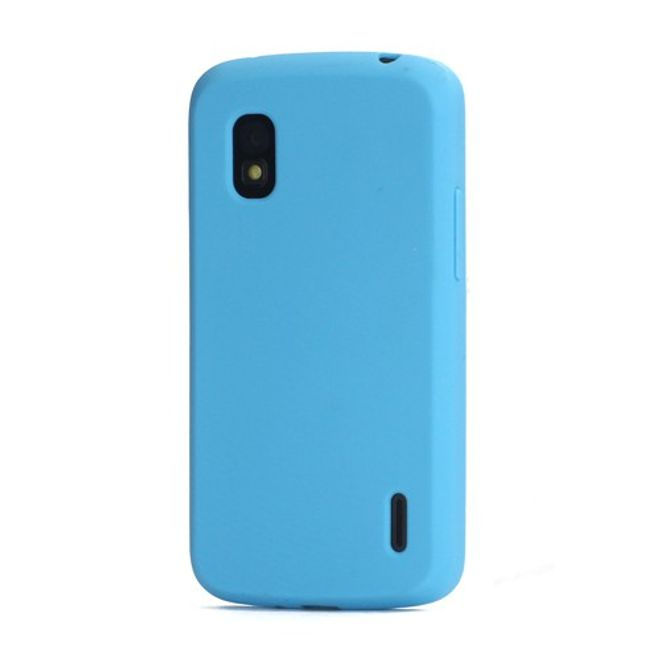 hans LG Google Nexus 4 Flexibles Silikon Case - blau