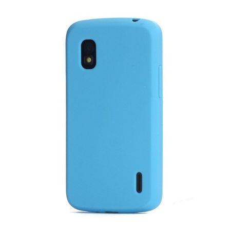 LG Google Nexus 4 Flexibles Silikon Case - blau
