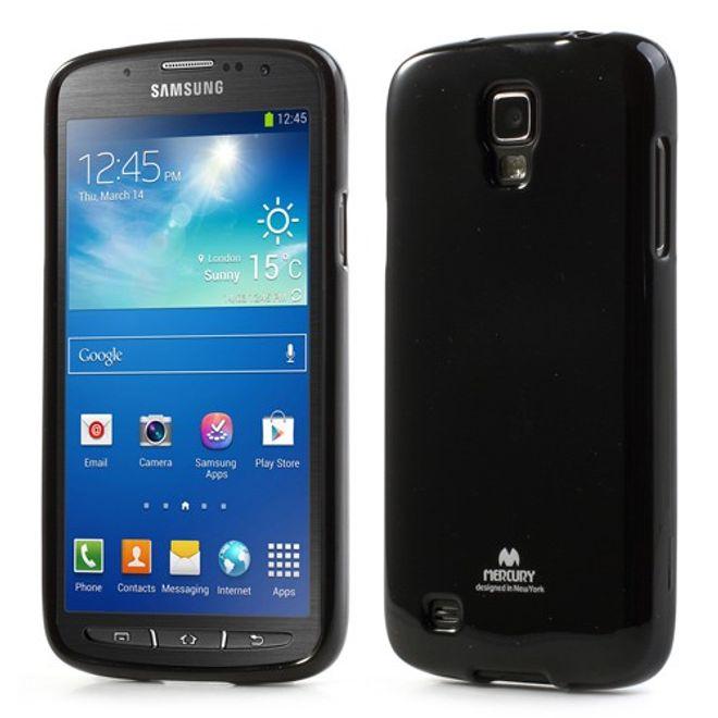 hans Samsung Galaxy S4 Active Glitzerndes, elastisches Plastik Case - schwarz