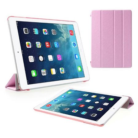 iPad Air Faltbares Leder Smart Flip Case - pink