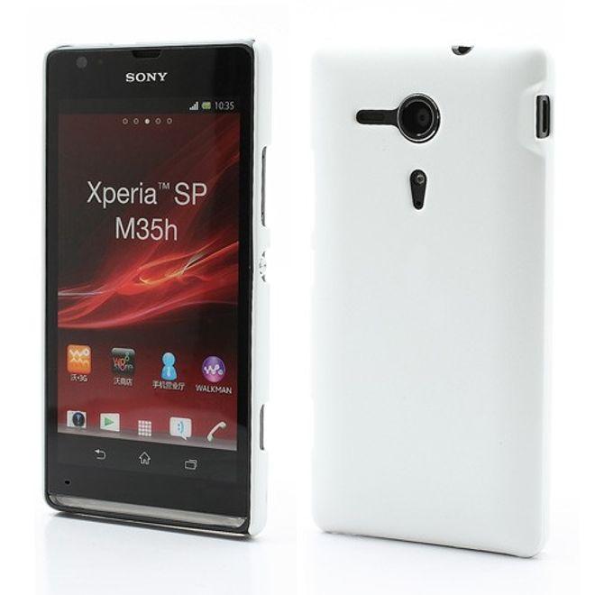 Sony Xperia SP Gummiertes Plastik Case - weiss