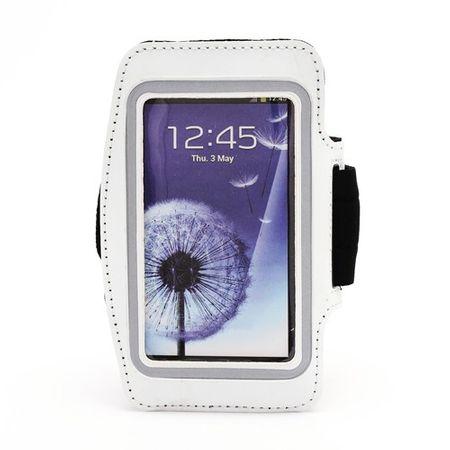 Sport Armband Case fürs Samsung Galaxy S4 - weiss