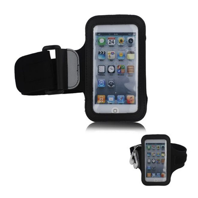 MU Classic Sport Armband Case für den iPod Touch 5/6 - schwarz