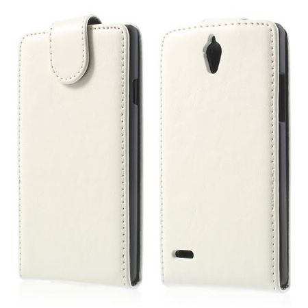 Huawei Ascend G700 Magnetisches Leder Case - weiss
