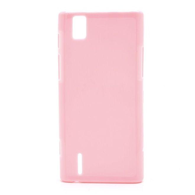 Huawei Ascend P2 Elastisches Plastik Case - pink