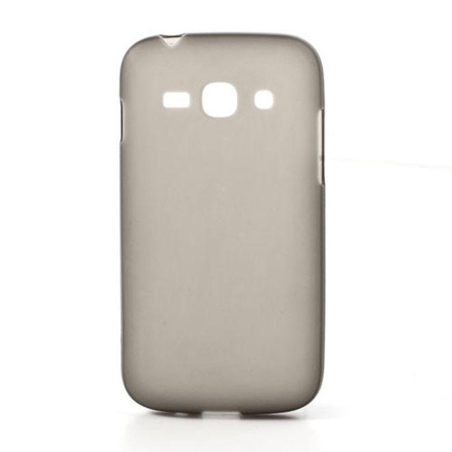 Samsung Galaxy Ace 3 Elastisches, mattes Plastik Case - grau