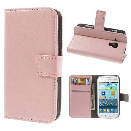 Samsung Galaxy Ace 2 Modisches Leder Case mit Standfunktion - pink