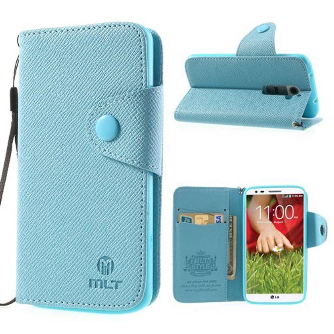 LG Optimus G2 Magnetisches Leder Case mit Kreditkartenschlitz - blau
