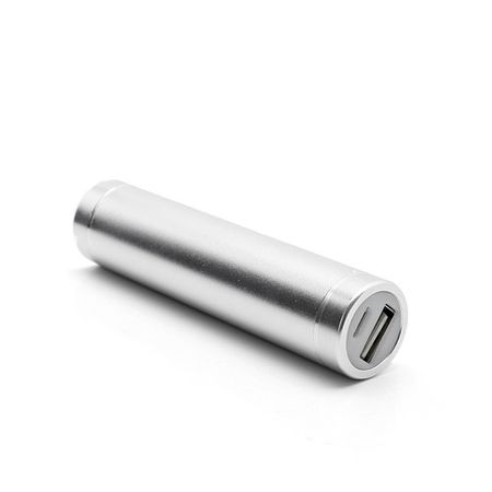 Battery Power Bank 1600mAh Ultraportabel in Lippenstift-Form - weiss