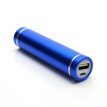 Battery Power Bank 1600mAh Ultraportabel in Lippenstift-Form - blau