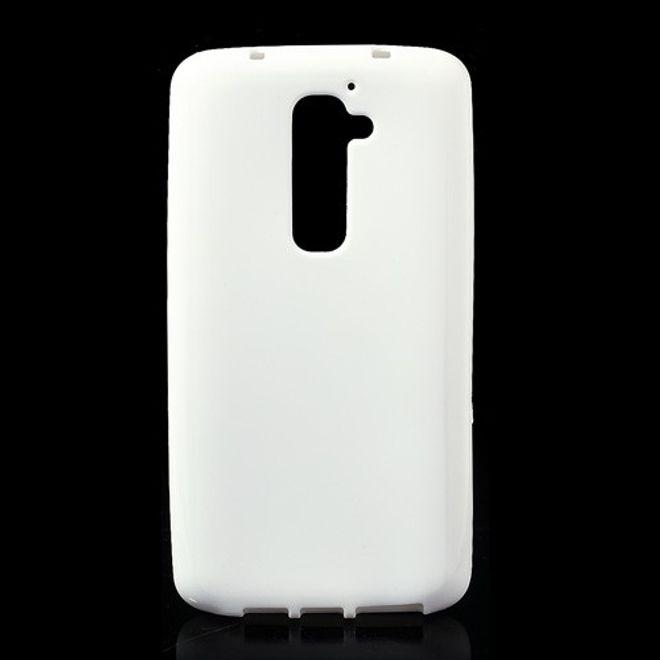 LG Optimus G2 Elastisches Plastik Case - weiss