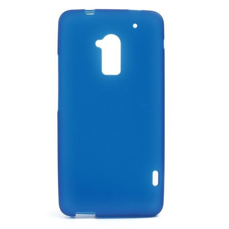 HTC One Max Elastisches Plastik Case - blau