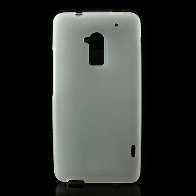 MU Classic HTC One Max Elastisches Plastik Case - weiss