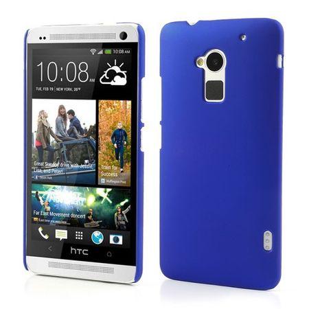 HTC One Max Gummiertes Hart Plastik Case - dunkelblau