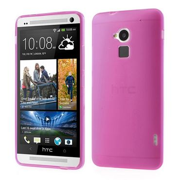 HTC One Max Elastisches, doppelseitiges Plastik Case - rosa
