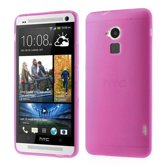 HTC One Max Elastisches, doppelseitiges Plastik Case - rosa