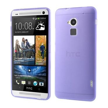 HTC One Max Elastisches, doppelseitiges Plastik Case - purpur