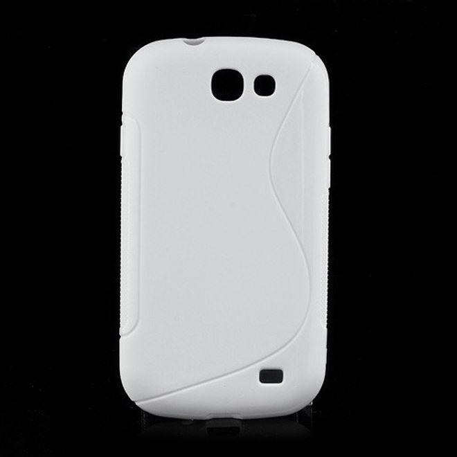 Samsung Galaxy Express Elastisches Plastik Case mit S-Form - weiss