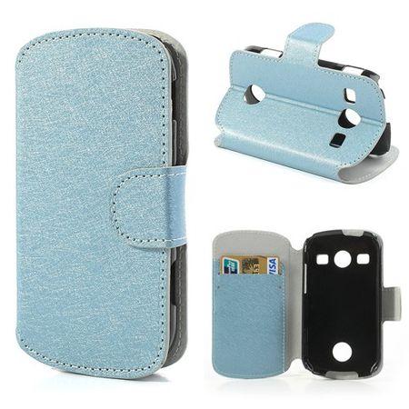 Samsung Galaxy Xcover 2 Stylisches, edles Leder Case mit Kreditkartenschlitz - hellblau