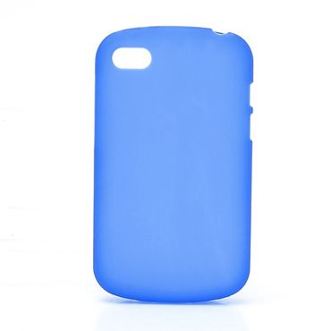 BlackBerry Q10 Elastisches Plastik Case - blau