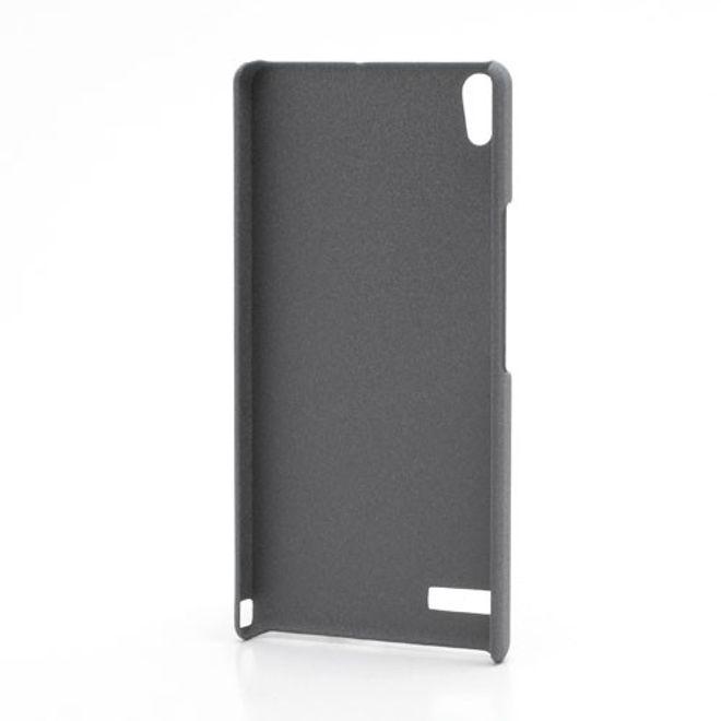 MU Classic Huawei Ascend P6 Hart Plastik Case mit sandartiger Oberfläche - grau